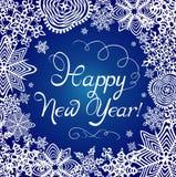 powitanie karciani nowy rok Zdjęcia Royalty Free