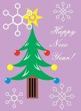 powitanie karciani nowy rok ilustracji