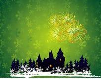 powitanie karciany nowy rok Ilustracji