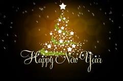 powitanie karciany nowy rok ilustracja wektor