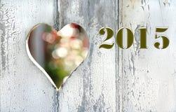 Powitanie karta 2015 Zdjęcie Stock