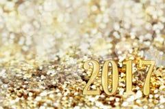 Powitanie karta dla 2017 Zdjęcie Royalty Free