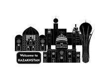 Powitanie Kazachstan Obraz Royalty Free