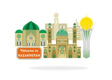 Powitanie Kazachstan Obrazy Stock