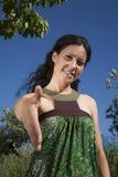 Powitanie kobieta Zdjęcia Royalty Free