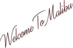 Powitanie Malibu teksta znaka ilustracja obrazy royalty free