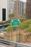 Powitanie Manhattan znak Obrazy Royalty Free