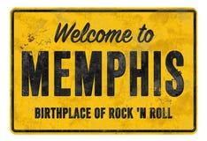 Powitanie Memphis miejsce narodzin skały N rolki znaka rocznik obraz stock