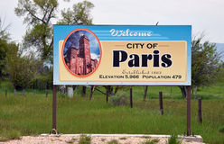 Powitanie miasto Paryż, Idaho Obraz Royalty Free
