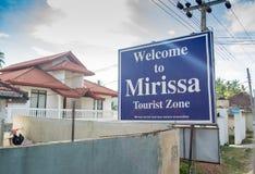 Powitanie Mirissa turystyczna strefa w Sri Lanka fotografia royalty free