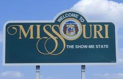 Powitanie Missouri Znak fotografia royalty free