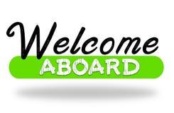 Powitanie na pokładzie - ciepłych przyjęć powitania ilustracji