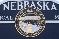 Powitanie Nebraska Znak Fotografia Royalty Free
