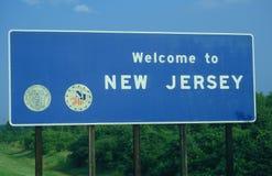 Powitanie New Jersey Znak Obrazy Royalty Free