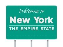 Powitanie Nowy Jork drogowy znak royalty ilustracja