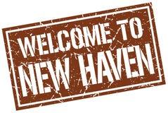 powitanie Nowy przystań znaczek ilustracja wektor
