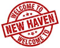 powitanie Nowy przystań znaczek ilustracji