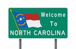 Powitanie Pólnocna Karolina drogowy znak ilustracji