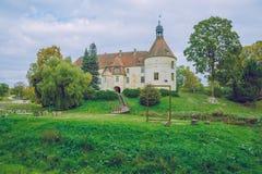 Powitanie średniowieczny kasztel w Bauska Obrazy Royalty Free