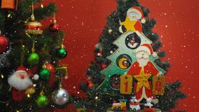 Powitanie sezonu pojęcie Święty Mikołaj przedstawienie 10 dni till Xmas z fotografia stock