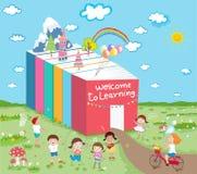 Powitanie uczyć się dzieciaków zabawę ilustracji