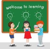 Powitanie uczyć się wektorową ilustrację ilustracja wektor