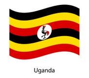 Powitanie Uganda Uganda flaga Patriotyczny projekt ilustracja wektor