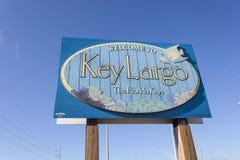 Powitanie Wpisywać Largo znaka, Floryda Fotografia Stock
