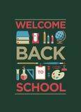 Powitanie Z powrotem szkoła plakat Obrazy Stock