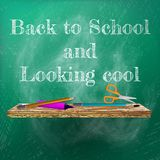Powitanie z powrotem szkoła szablonu projekt plus EPS10 Zdjęcie Royalty Free