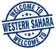 Powitanie Zachodni Sahara znaczek ilustracja wektor