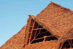 powlekane strzechą dach Fotografia Royalty Free
