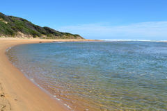 River ocean & sandunes Royalty Free Stock Photography