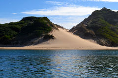 River and Sandunes royalty free stock images