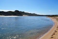 Rzeka i Sandunes Zdjęcie Royalty Free