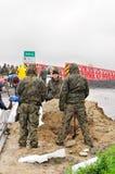 powodzi klodnica Poland rzeczny Silesia zabrze Obrazy Stock