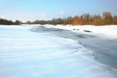 powodzi melt wiosna zagrożenie obrazy stock