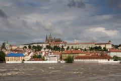 Powodzie w Praga Obrazy Royalty Free