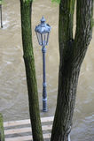 Powodzie w Praga, Vltava rzeka Zdjęcia Royalty Free