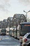 Powozowa stacja i autobusy zdjęcie royalty free