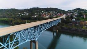 Powstająca antena ustanawia strzał Rt 40 Targowej ulicy most zdjęcie wideo