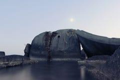 Powstająca księżyc Zdjęcie Stock