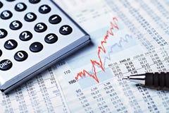 Powstające ceny akcji zdjęcie stock