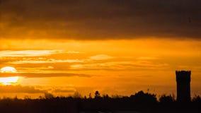 Powstającego słońca wierza Obraz Stock