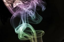 Powstający pastelu dym zdjęcia stock
