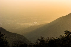 Powstający słońce w Islamabad Fotografia Royalty Free