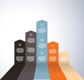 Powstający wykres z ikonami Obraz Royalty Free