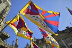 10 powstania Marcowy dzień 2017 w Tybet, Bern Szwajcaria Obrazy Royalty Free