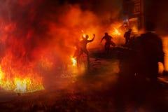 Powstanie ludzie przeciw władzom Zdjęcia Royalty Free
