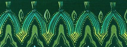 Powtórkowa wzorzysta bawełny granica Obrazy Royalty Free